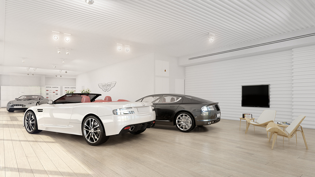 Aston Martin showroom in Israel