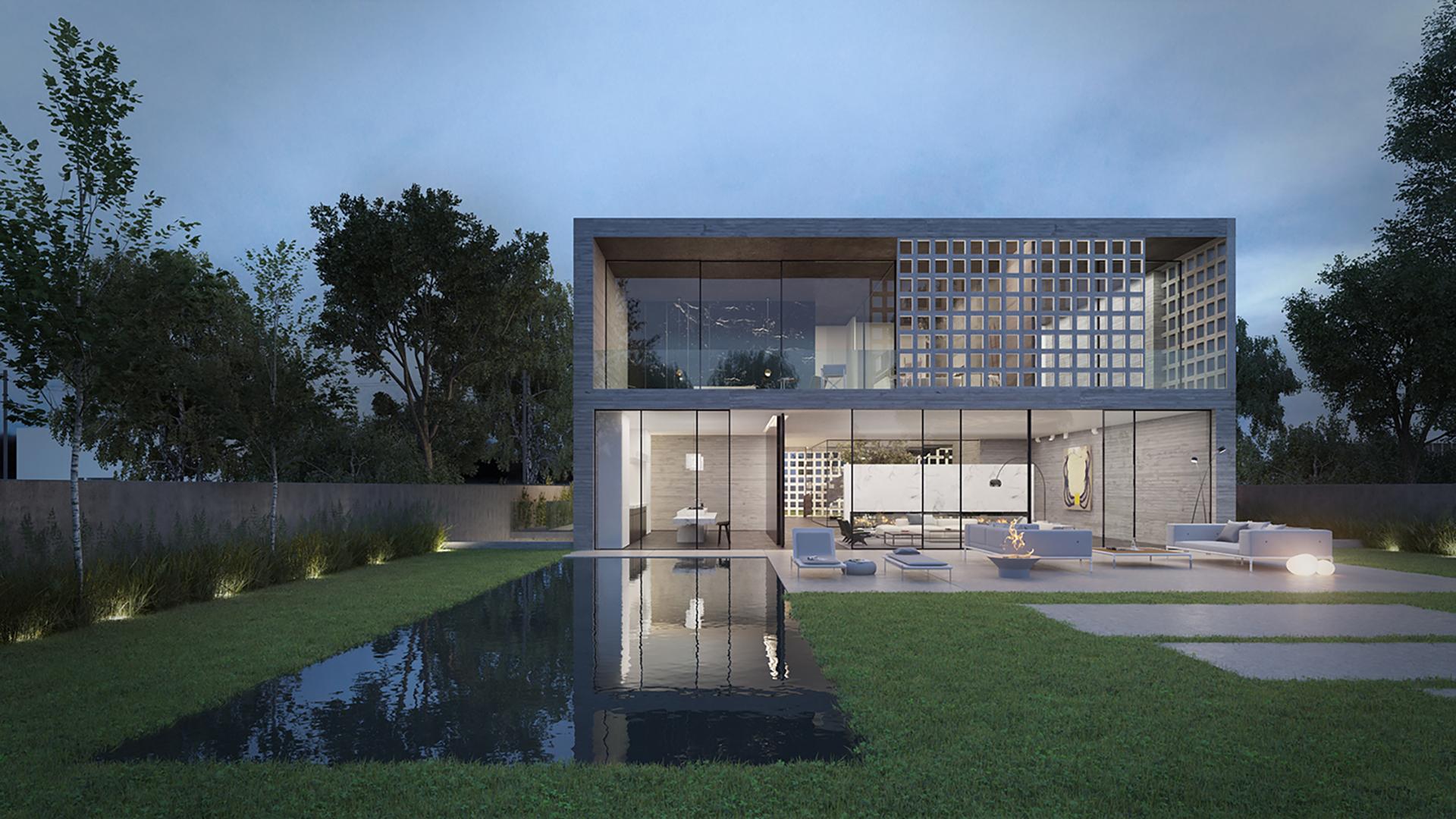 Concrete Brick House